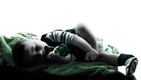 Σκιαγραφία ύπνου μωρών Στοκ Φωτογραφία