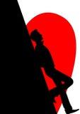 σκιαγραφία Στοκ εικόνες με δικαίωμα ελεύθερης χρήσης