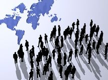 σκιαγραφία Στοκ φωτογραφία με δικαίωμα ελεύθερης χρήσης