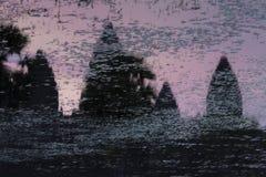 Σκιαγραφία Angkor Wat, μια περιοχή κληρονομιάς της ΟΥΝΕΣΚΟ στην Καμπότζη Στοκ Εικόνα