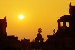 Σκιαγραφία Angkor Wat στην ανατολή Στοκ φωτογραφίες με δικαίωμα ελεύθερης χρήσης