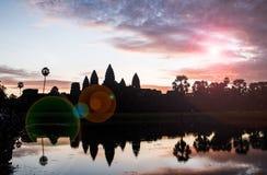 Σκιαγραφία Angkor Wat Στοκ εικόνες με δικαίωμα ελεύθερης χρήσης