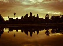 Σκιαγραφία Angkor Wat Στοκ Φωτογραφίες