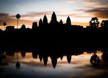 Σκιαγραφία Angkor Wat Στοκ Εικόνα