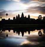 Σκιαγραφία Angkor Wat Στοκ Εικόνες