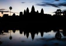 Σκιαγραφία Angkor Wat Στοκ εικόνα με δικαίωμα ελεύθερης χρήσης