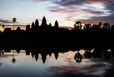 Σκιαγραφία Angkor Wat Στοκ φωτογραφία με δικαίωμα ελεύθερης χρήσης