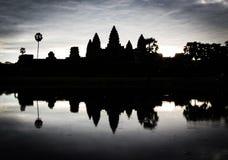 Σκιαγραφία Angkor Wat Στοκ Φωτογραφία