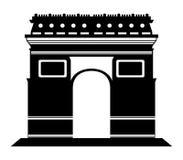 Σκιαγραφία Arc de Triomphe Στοκ φωτογραφίες με δικαίωμα ελεύθερης χρήσης
