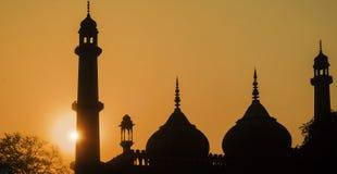 Σκιαγραφία - Asafi Masjid Στοκ Εικόνες