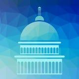 Σκιαγραφία Capitol Στοκ Φωτογραφία