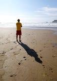 Σκιαγραφία Lifeguard στοκ φωτογραφίες με δικαίωμα ελεύθερης χρήσης