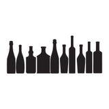 σκιαγραφία ouline μπουκαλιών Απεικόνιση αποθεμάτων