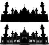 Σκιαγραφία Pattani μουσουλμανικών τεμενών Jamiah Στοκ φωτογραφίες με δικαίωμα ελεύθερης χρήσης