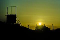 Σκιαγραφία Pernambuco Βραζιλία βιομηχανικού κτηρίου Στοκ φωτογραφία με δικαίωμα ελεύθερης χρήσης