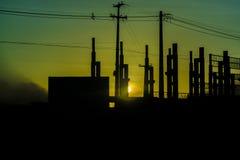 Σκιαγραφία Pernambuco Βραζιλία βιομηχανικού κτηρίου Στοκ Φωτογραφίες