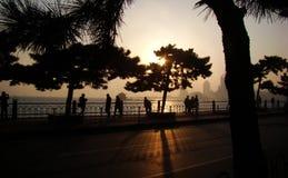Σκιαγραφία Qingdao Στοκ φωτογραφία με δικαίωμα ελεύθερης χρήσης