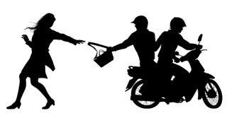 Σκιαγραφία snatchers τσαντών Στοκ Εικόνες