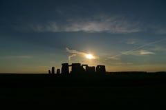 σκιαγραφία stonehenge Στοκ Εικόνα