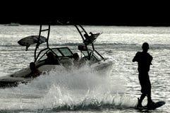 σκιαγραφία wakeboard Στοκ εικόνες με δικαίωμα ελεύθερης χρήσης