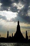 Σκιαγραφία Wat aroon Στοκ Φωτογραφίες