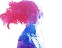 Σκιαγραφία Watercolor Στοκ φωτογραφίες με δικαίωμα ελεύθερης χρήσης