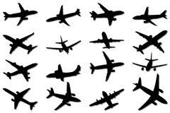 σκιαγραφίες αεροπλάνων Στοκ εικόνα με δικαίωμα ελεύθερης χρήσης