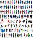 σκιαγραφίες ανθρώπων Στοκ φωτογραφία με δικαίωμα ελεύθερης χρήσης