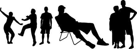 σκιαγραφίες ατόμων Στοκ εικόνες με δικαίωμα ελεύθερης χρήσης