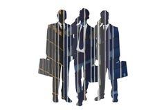 Σκιαγραφίες επιχειρηματιών - περίληψη Στοκ Εικόνες