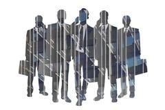 Σκιαγραφίες επιχειρηματιών - περίληψη Στοκ φωτογραφίες με δικαίωμα ελεύθερης χρήσης