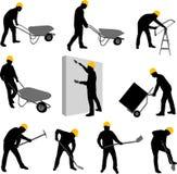 Σκιαγραφίες εργαζομένων Στοκ Εικόνα
