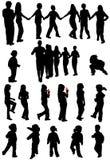 σκιαγραφίες κατσικιών Στοκ εικόνες με δικαίωμα ελεύθερης χρήσης
