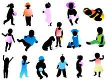 σκιαγραφίες κατσικιών ελεύθερη απεικόνιση δικαιώματος