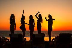 σκιαγραφίες κοριτσιών Στοκ Εικόνες