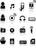 σκιαγραφίες μουσικής Στοκ εικόνες με δικαίωμα ελεύθερης χρήσης