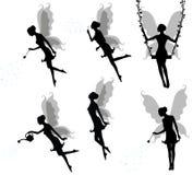 σκιαγραφίες νεράιδων Στοκ εικόνες με δικαίωμα ελεύθερης χρήσης
