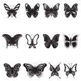 Σκιαγραφίες πεταλούδων διανυσματική απεικόνιση