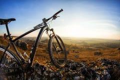 Σκιαγραφίες ποδηλάτων με το BL Στοκ Εικόνες