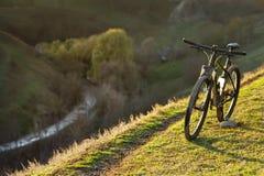 Σκιαγραφίες ποδηλάτων με το BL Στοκ Εικόνα