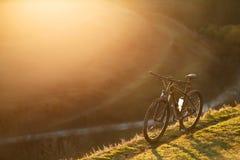 Σκιαγραφίες ποδηλάτων με το BL Στοκ φωτογραφίες με δικαίωμα ελεύθερης χρήσης