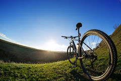 Σκιαγραφίες ποδηλάτων με το BL Στοκ φωτογραφία με δικαίωμα ελεύθερης χρήσης