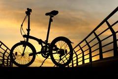 Σκιαγραφίες ποδηλάτων Στοκ φωτογραφίες με δικαίωμα ελεύθερης χρήσης