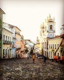 Σκιαγραφίες στο Σαλβαδόρ Στοκ φωτογραφίες με δικαίωμα ελεύθερης χρήσης