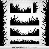 σκιαγραφίες συνόλου Στοκ εικόνα με δικαίωμα ελεύθερης χρήσης