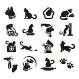 Σκιαγραφίες της γάτας Στοκ Εικόνες