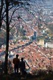 σκιαγραφίες τοπίων Στοκ εικόνες με δικαίωμα ελεύθερης χρήσης