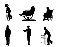 Σκιαγραφίες των άρρωστων ανθρώπων απεικόνιση αποθεμάτων