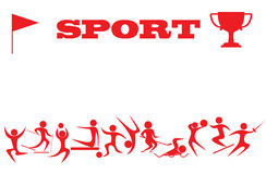 Σκιαγραφίες των αθλητικών τύπων Στοκ εικόνα με δικαίωμα ελεύθερης χρήσης
