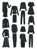 Σκιαγραφίες των ενδυμάτων γυναικών ` s για την άνοιξη Στοκ Εικόνες